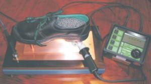 Mesure de la résistance conductive des chaussures de sécurité