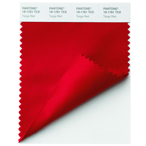 Pantone Swatch cards 19-1761 TCX Tango-Red