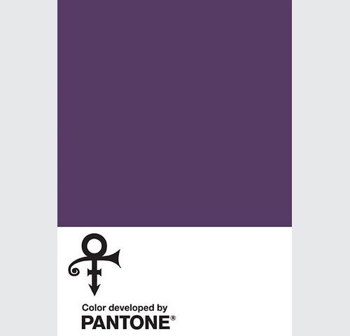 Pantone LoveSymbole#2 en hommage à Prince