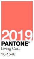 Pantone - Couleur de l'année 2019 - Living Coral 16-1546 TCX